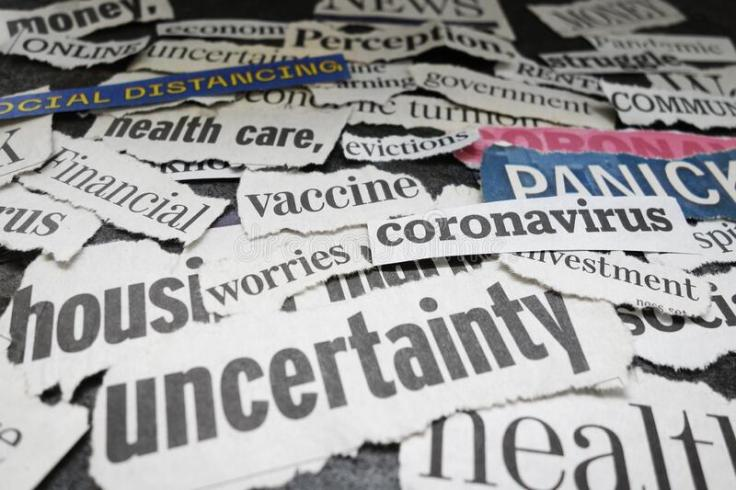 corona-virus-newspaper-headlines-economy-related-177132392